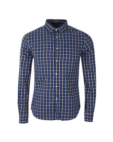 Superdry Mens Blue L/S Tailored Oxford Shirt