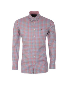 Hackett Mens Blue L/S Winter Check Shirt
