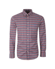 Gant Mens Red L/S Check Shirt