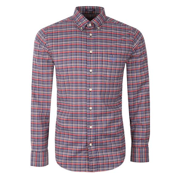 Gant Mens Red L/S Check Shirt main image