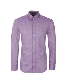 Gant Mens Purple L/S Oxford Shirt