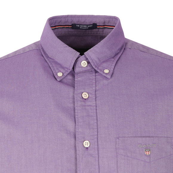 Gant Mens Purple L/S Oxford Shirt main image