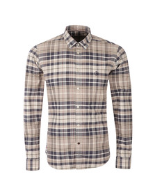 Henri Lloyd Mens Blue Aberton L/S Check Shirt