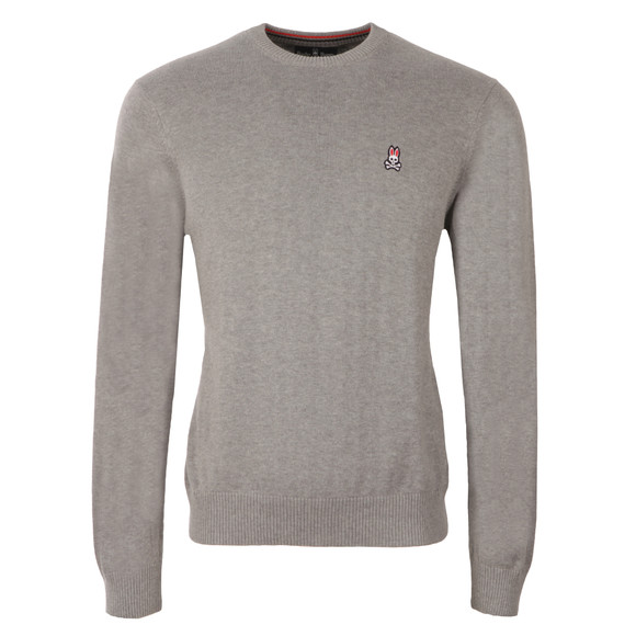 Psycho Bunny Mens Grey Crew Neck Sweater main image