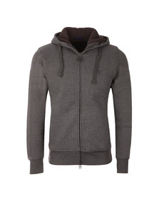 Gant Mens Grey Shearling Full Zip Hoodie