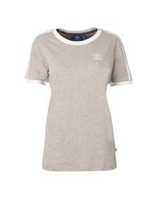 Adidas Originals Womens Grey 3 Stripes Tee