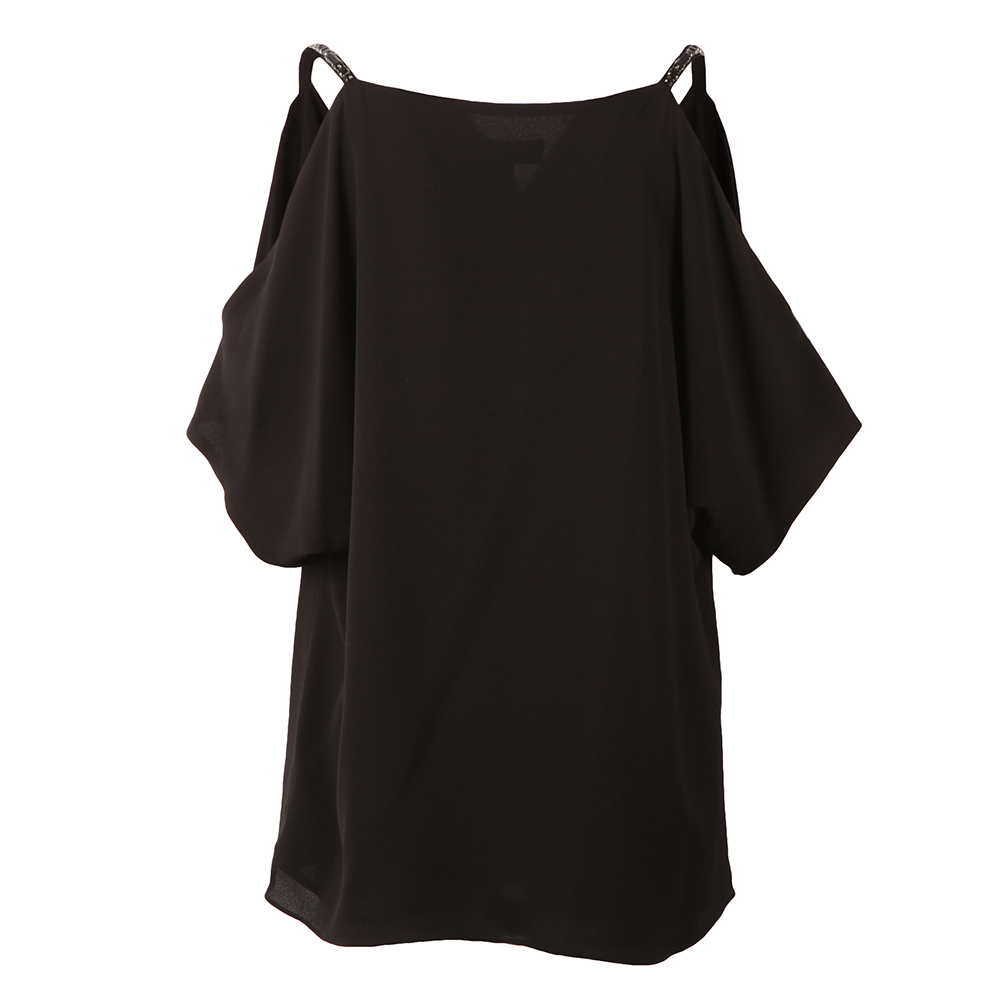 Cowl Shoulder Embellished Strap Top main image
