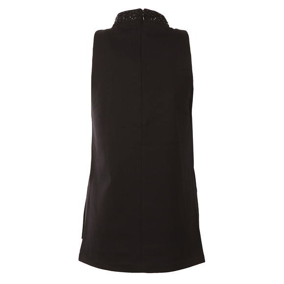 Michael Kors Womens Black Embellished Split Hem Tunic main image