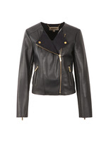 Bonded Faux Leather Jacket