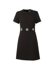 Michael Kors Womens Black Brooch Detail Dress