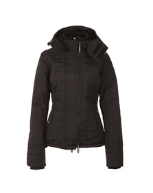 Superdry Womens Black Hooded Sherpa Quilted Windcheater