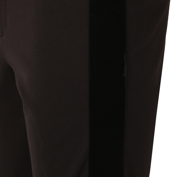 Michael Kors Womens Black Velvet Side Stripe Trouser main image