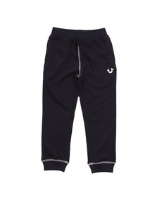 True Religion Boys Black Horseshoe Logo Sweatpant