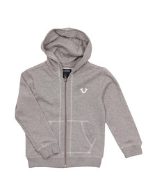 True Religion Boys Grey Horseshoe Logo Hoody