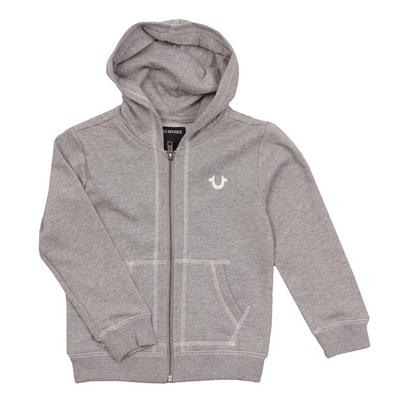 True Religion Boys Grey Horseshoe Logo Hoody main image