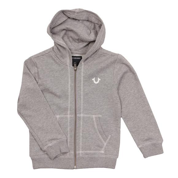 True Religion Boys Grey Horseshoe Logo Hoody