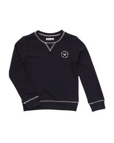 True Religion Boys Black Logo Crew Sweatshirt
