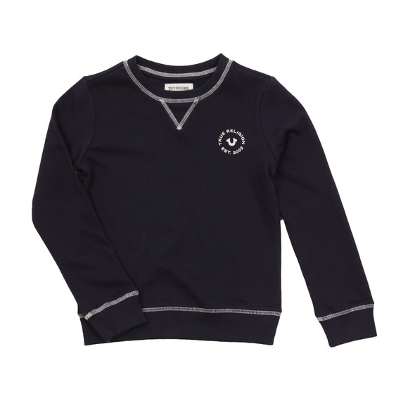 True Religion Boys Black Logo Crew Sweatshirt main image