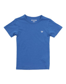 True Religion Boys Blue Branded Logo T Shirt
