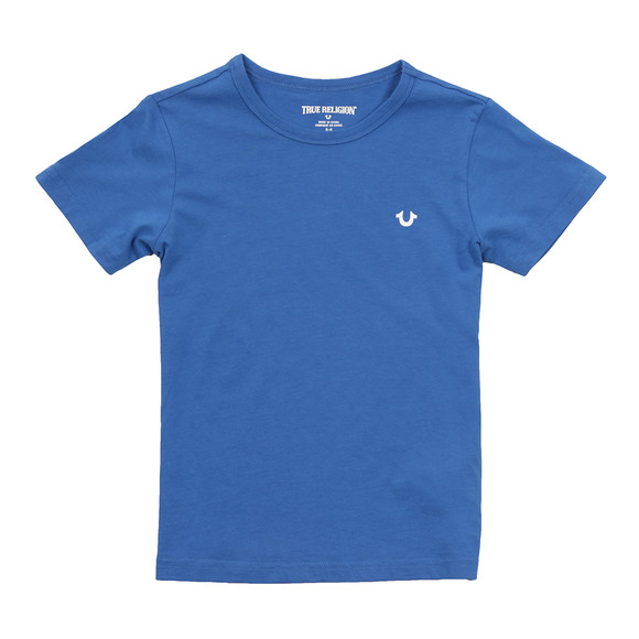 True Religion Boys Blue Branded Logo T Shirt main image