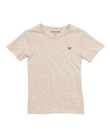 True Religion Boys Beige Branded Logo T Shirt