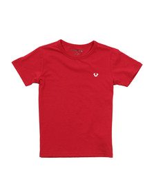 True Religion Boys Red Branded Logo T Shirt