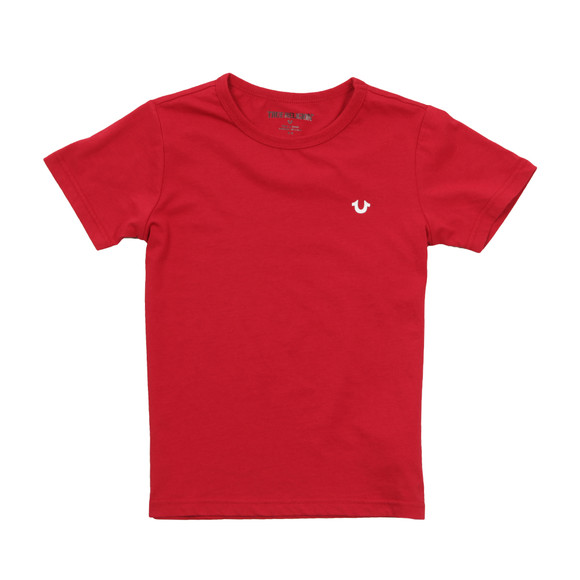 True Religion Boys Red Branded Logo T Shirt main image