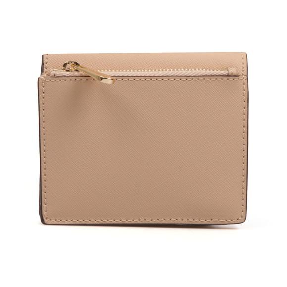 Michael Kors Womens Beige Jet Set Travel Saffiano Leather Card Case main image