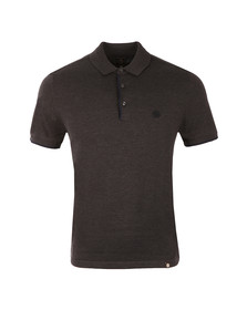 Pretty Green Mens Grey Tarland Knitted Polo Shirt