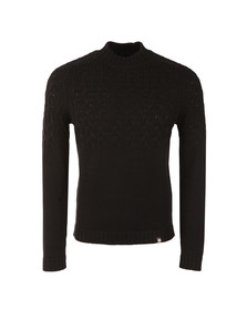 Pretty Green Mens Black Edale Cable Jumper