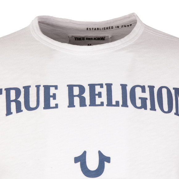 True Religion Mens White Puffy  Print T Shirt main image