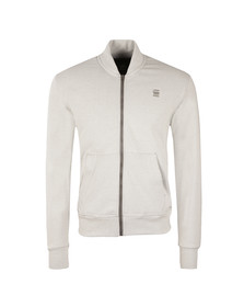 G-Star Mens White Valn Full Zip Sweat