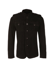 Pretty Green Mens Black Suede Lennon Jacket