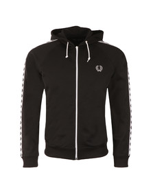 Fred Perry Mens Black Taped Hooded Track Jacket