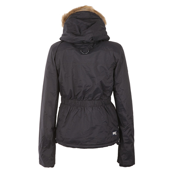 Superdry Womens Blue Hooded Fur Sherpa Wind Attacker main image