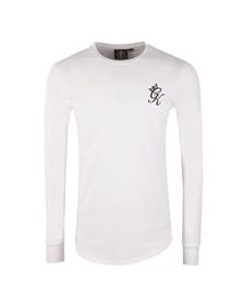 Gym king Mens White Long Sleeve Undergarment Tee
