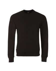 Paul Smith Mens Black Organic Cotton Tab Logo Sweatshirt