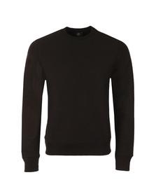 Paul Smith Mens Black Organic Cotton Tab Logo Sweatshirt