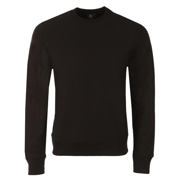 Paul Smith Mens Black Organic Cotton Tab Logo Sweatshirt main image