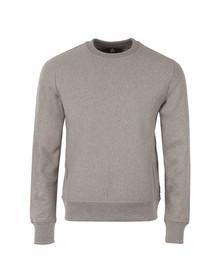Paul Smith Mens Grey Organic Cotton Tab Logo Sweatshirt