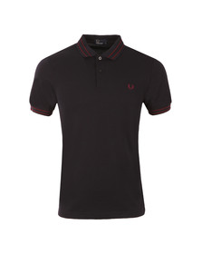Fred Perry Mens Blue S/S Tramline Tipped Polo