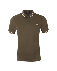 Fred Perry Mens Green S/S Tramline Tipped Polo