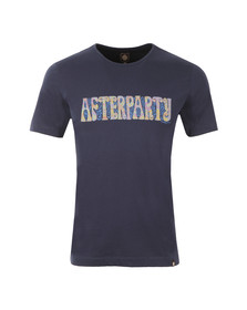 Pretty Green Mens Blue Afterparty T Shirt