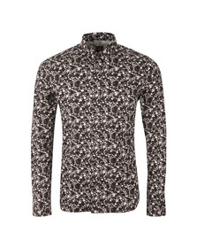 Pretty Green Mens Black Ivylea Floral Shirt