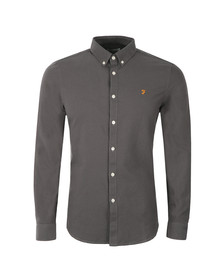 Farah Mens Grey Brewer Oxford Shirt