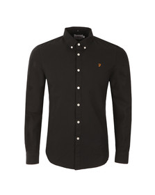 Farah Mens Black Brewer Oxford Shirt