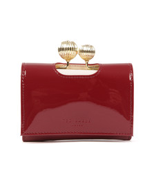 Ted Baker Womens Red Julissa Etched Bobble Patent Small Purse