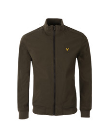 Lyle and Scott Mens Green Zip Through Soft Shell Jacket