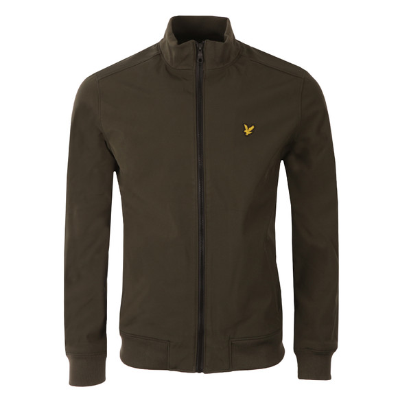 Lyle and Scott Mens Green Zip Through Soft Shell Jacket main image