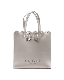 Ted Baker Womens Silver Belacon Scalloped Micro Bow Large Icon Bag